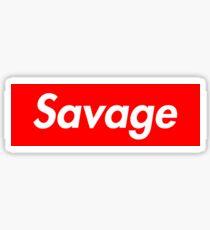 SAVAGE BOX LOGO - 21 Sticker