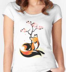 Sakura Kitsune Women's Fitted Scoop T-Shirt