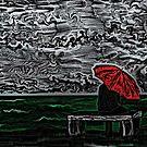 Sea Woodcut by OmandOriginal