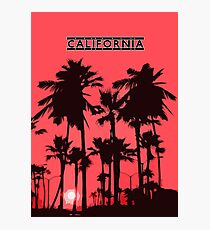 California - Sunset in the USA Photographic Print
