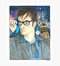 The Tenth Doctor - Doctor Who Photographic Print