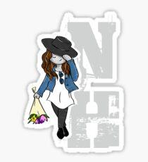 Nadia Hilker - NH - white Sticker