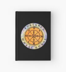 Fortune's Wheelhouse logo on black Hardcover Journal