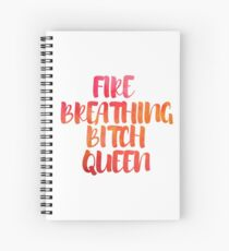 Cuaderno de espiral Fire Breathing Queen