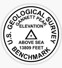 Gannett Peak, Wyoming USGS Style Benchmark Sticker