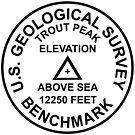 Trout Peak, Wyoming USGS Style Benchmark by topou