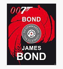 James Bond 007 Cinema Movie Moore Connery Craig Photographic Print