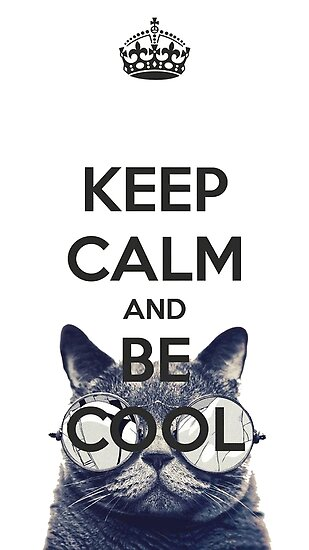 keep calm and be cool posters by mrgreed redbubble