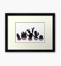 cactus row Framed Print