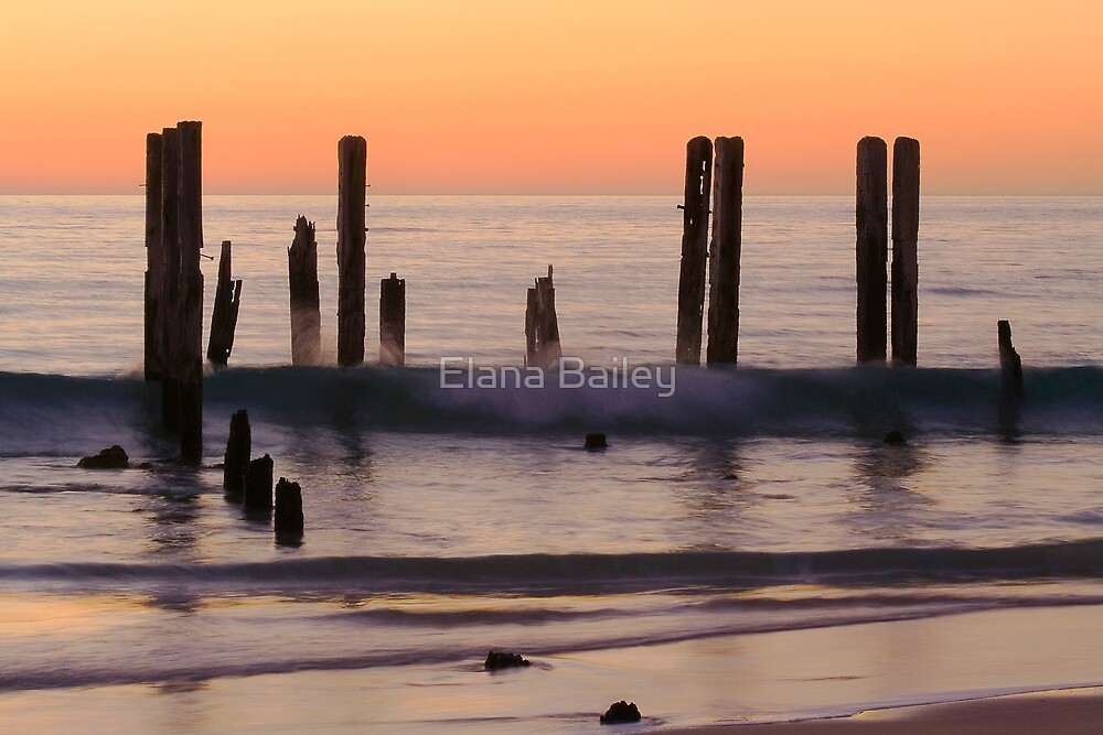 Sunset, Port Willunga beach by Elana Bailey