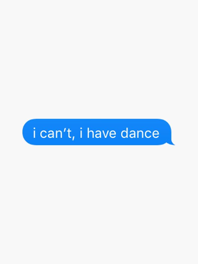 No puedo, tengo baile de nickelnicole