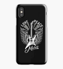 FOR THE LOVE OF MUSIC A GUITAR PLAYER ROCK MUSICIANS DESIGN BLACK iPhone Case