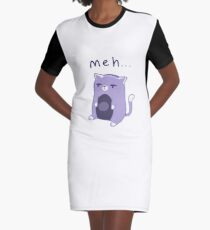 'meh' Cat Graphic T-Shirt Dress