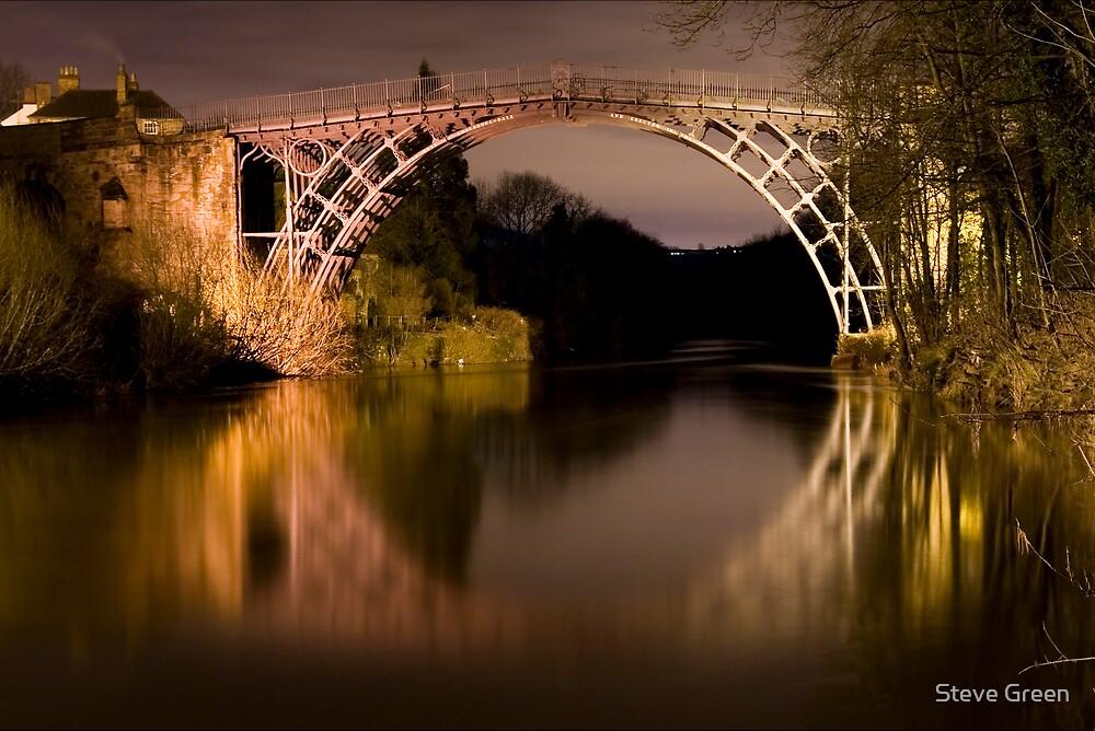 Ironbridge at Night by Steve Green