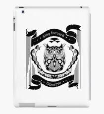 Owl - Emblem of wisdom iPad Case/Skin