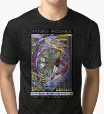 Fortune's Wheelhouse Fortune Tabula Mundi Tarot Tri-blend T-Shirt