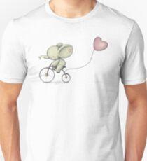 Cute Elephant riding his Bike T-Shirt