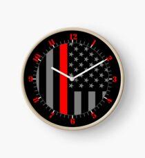 American Firefighter US Flag Clock