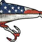 USA American Fishing Lure by Statepallets