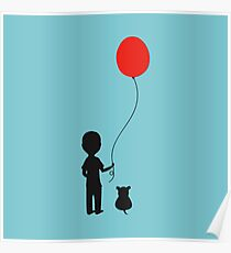 Boy with the Red Balloon Poster