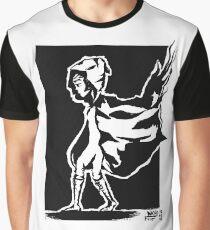 cape in wind design (black) Graphic T-Shirt