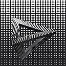 Black & White Triangle Pattern by fantasytripp
