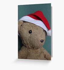 Scruffles with Christmas Hat Greeting Card