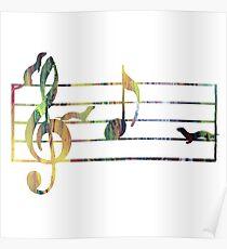 Ferrets Art - Musical note Poster