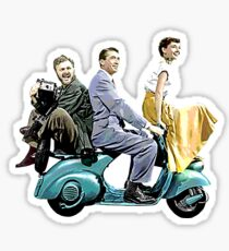 Posterized Roman Holiday Sticker