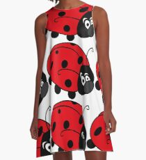 Happt Lady Bug Pattern A-Line Dress