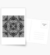 Ghost Cirice Moth Kaleidoscope Postcards