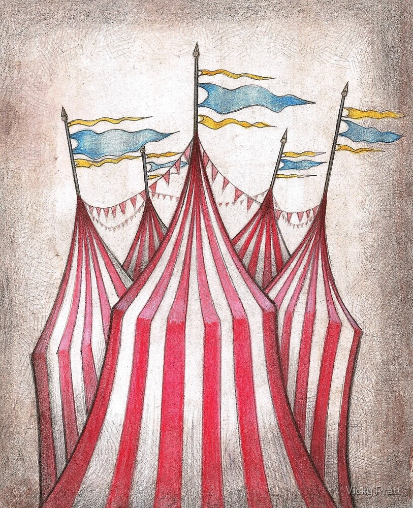 Circus top tents by Vicky Pratt