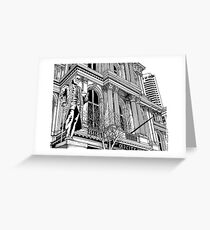 Boston's Old City Hall Drawing Greeting Card