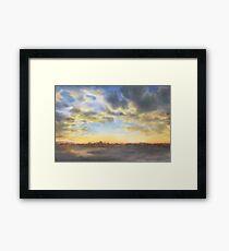 The whisper of dusk (watercolour) Framed Print