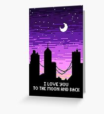 Pixel Love Greeting Card