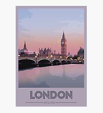 London Travel Poster Photographic Print
