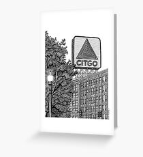 Kenmore Square - Citgo Sign - Boston Greeting Card
