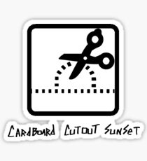 Cardboard Cutout Sunset - Scissors Sticker
