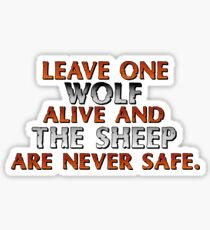 Sheep are never safe. Sticker