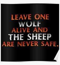 Sheep are never safe. Poster
