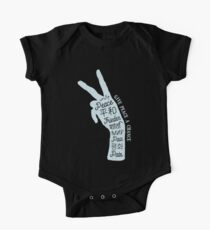 Peace sign in different languages Kids Clothes
