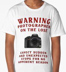 Warning Photographer Long T-Shirt