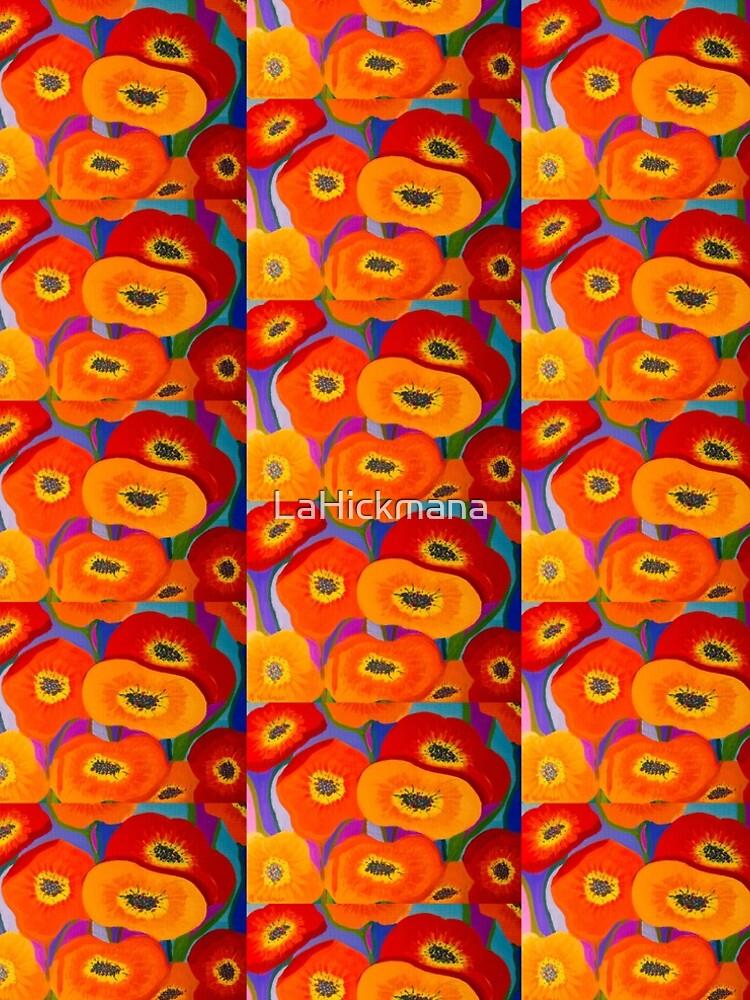 Happy Orange Poppies by LaHickmana