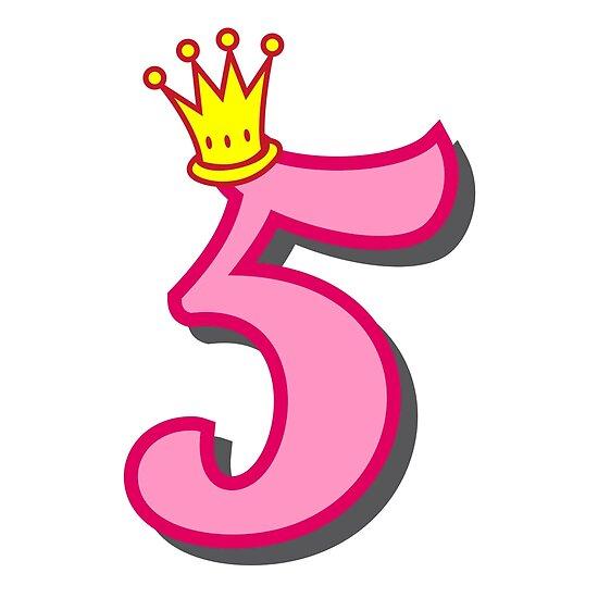 5 Geburtstag Prinzessin Party Thema Und Geschenke Poster Von Tee