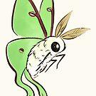 Fuzzy Cute Luna Moth by Mary Capaldi