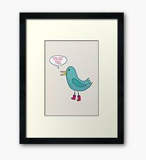 Emotional Support Duck Framed Print