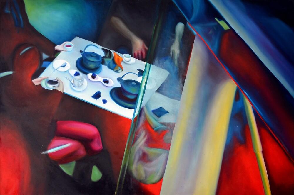 Mystical Supper, 2014, 120-80cm, oil on canvas by oanaunciuleanu