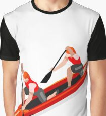Canoe Rowing Double Sport Graphic T-Shirt