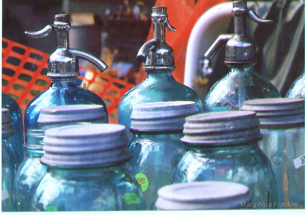 Blue Bottles by Mary Alice Franklin