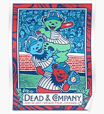 POSTER DEAD and COMPANY WRIGLEY FIELD, 30 JUNE 2017 Poster